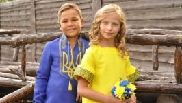 Комплект детских вышиванок ДМ221-293 и ДП22-253