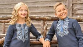 Комплект детских вышиванок ДМ011-293 и ДП01-293