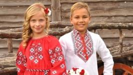 Комплект вышиванок для детей ДМ182-212 и ДП10-261