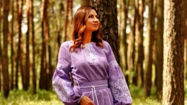 Женское вышитое платье П341-251
