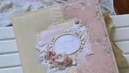 Розовый детский фотоальбом, беби-бук для девочки, фотоальбом на годик