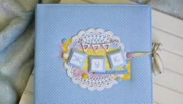 Детский фотоальбом для мальчика, скрап альбом для новорожденного