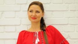 Льняное вышитое платье П11-261