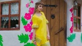 Женское платье-вышиванка П22-253