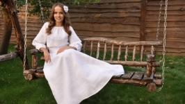 Белое платье с вышивкой П1610-211