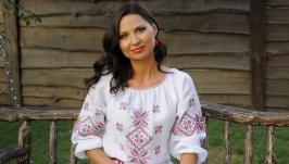 Платье с украинской вышивкой П16-212
