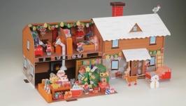 Дом Санта Клауса - объемная модель своими руками