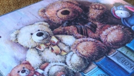 Шкатулка синяя ′Мишки′