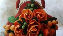 Валяна сумка ′Осінь в Соренто′