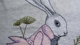 Футболка с вышивкой ′Кролик′