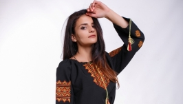 Женское вышитое платье «Гуцулка»