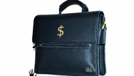 Кожаная мужская сумка через плечо.