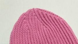 Рожева шапочка біні. В′язана крючком