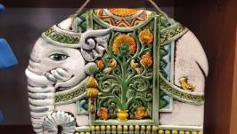 ′Слон розписний′ настінна прикраса, сувенір.