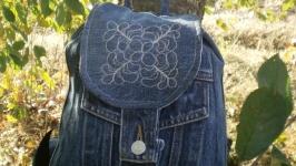 Джинсовый рюкзак ′Принт-деним′