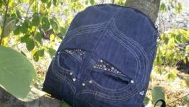Джинсовый рюкзак ′Эпл′