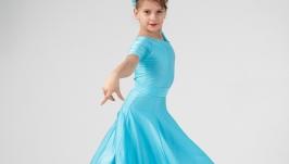 Рейтинговое платье (Бейсик) для бальных танцев ′Bright Blue′