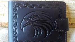 Портмоне большое коричневый орел