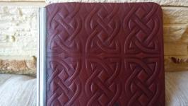 Зажим для денег коричневый кельтский узел