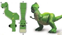 Динозавр Рекс бумажная поделка