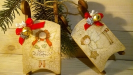 новорічні підвіски ′Happy Christmas′