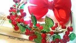 Ободок с ягодами калиновый