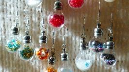 Серьги мини-лампочки