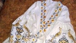 Платье Жар - птица на 100% льне