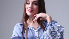 Женское джинсовое платье короткое ′Дерево Жизни′