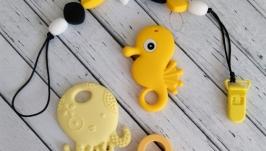Прищепка-прорезыватель-грызун для малышей ′Черно-Желтое сочетание′