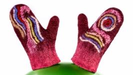 Детские рукавицы из валяной шерсти