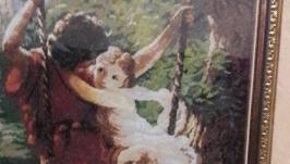 Картина вышитая крестиком ′Влюбенные′