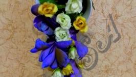 Цветочная чашка изобилия из фоамирана′ Цветочный вальс′