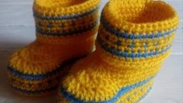 Пинетки-сапожки для новорожденных