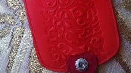 Ключница красные узоры