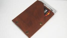 """Мінімалістичний шкіряний гаманець Дощ""""BeCool""""#bcc5"""