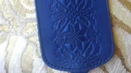 Ключница синяя вышиванка