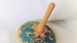 Деревянная игрушка, сувенир, юла, волчок Водичка
