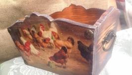 Птичий двор-Короб и панно вешалки