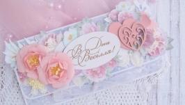 Конверт весільний Ніжність чайних троянд