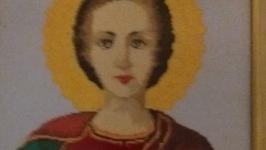 Вишита ікона святого Пателеймона цілителя