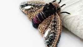 Брошь цикада