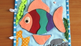 Страница Рыбка-пазл. развивающая книжка