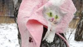 Валяный бактус Котячий восторг