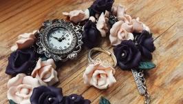 Часы на браслете и кольцо