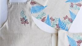 Ніжний блакитний комплект домашнього текстилю