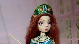 текстильная шарнирная кукла bjd Царевна-лягушка