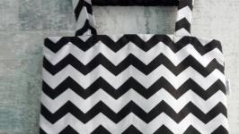 Екосумка ′Зигзаги чорно-білі′