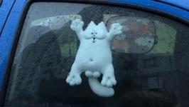 Кот Саймона в машину на присосках