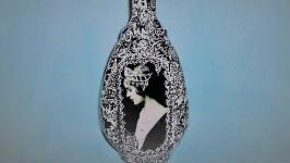 Сувенирная, интерьерная, коллекционная бутылка ,,Прекрасная дама,,.